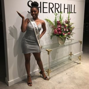 Sherri Hill Silver Cocktail